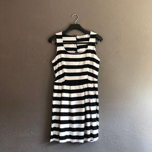 JustFab black/white dress